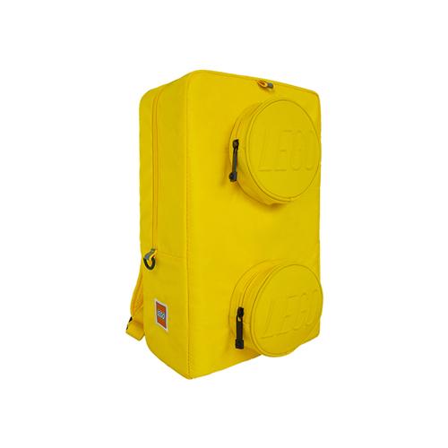 乐高积木图案双肩背包 黄色 40*24*13cm 20204