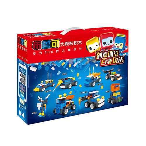 布鲁可积木大颗粒玩具鲁鲁推土机(遥控版) 62102