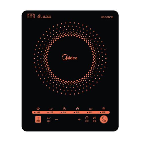 美的多功能大功率触控黑晶面板4D防水电磁炉  C21-RT2171