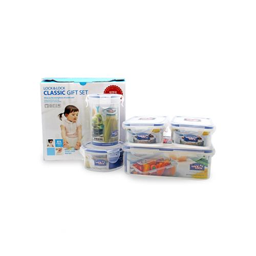 乐扣乐扣PP塑料保鲜饭盒五件套 HPL817SD05